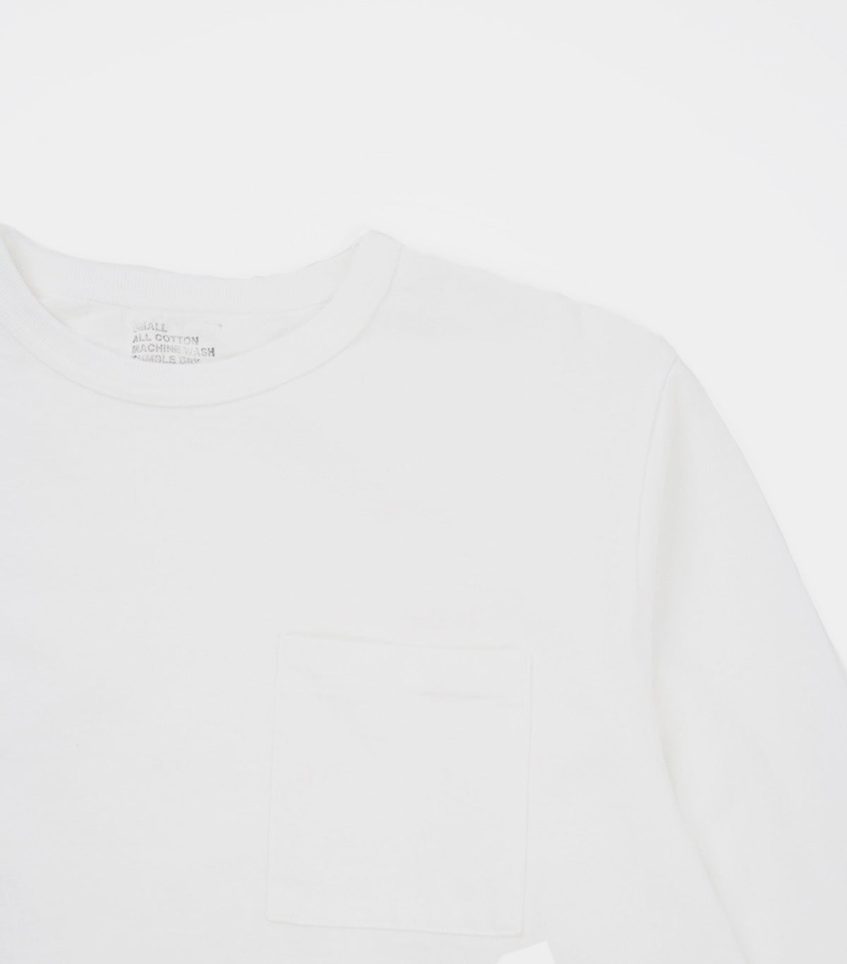 Heavy-weight Pocket Long Sleeve T-shirts White