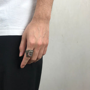 <strong>VINTAGE</strong></br>Mexican Biker Ring / Indian