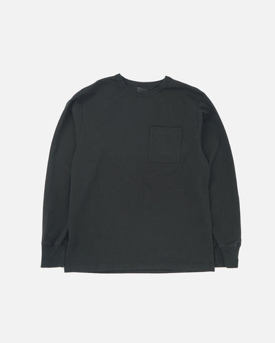 Heavy-weight Pocket Long Sleeve T-shirts Black