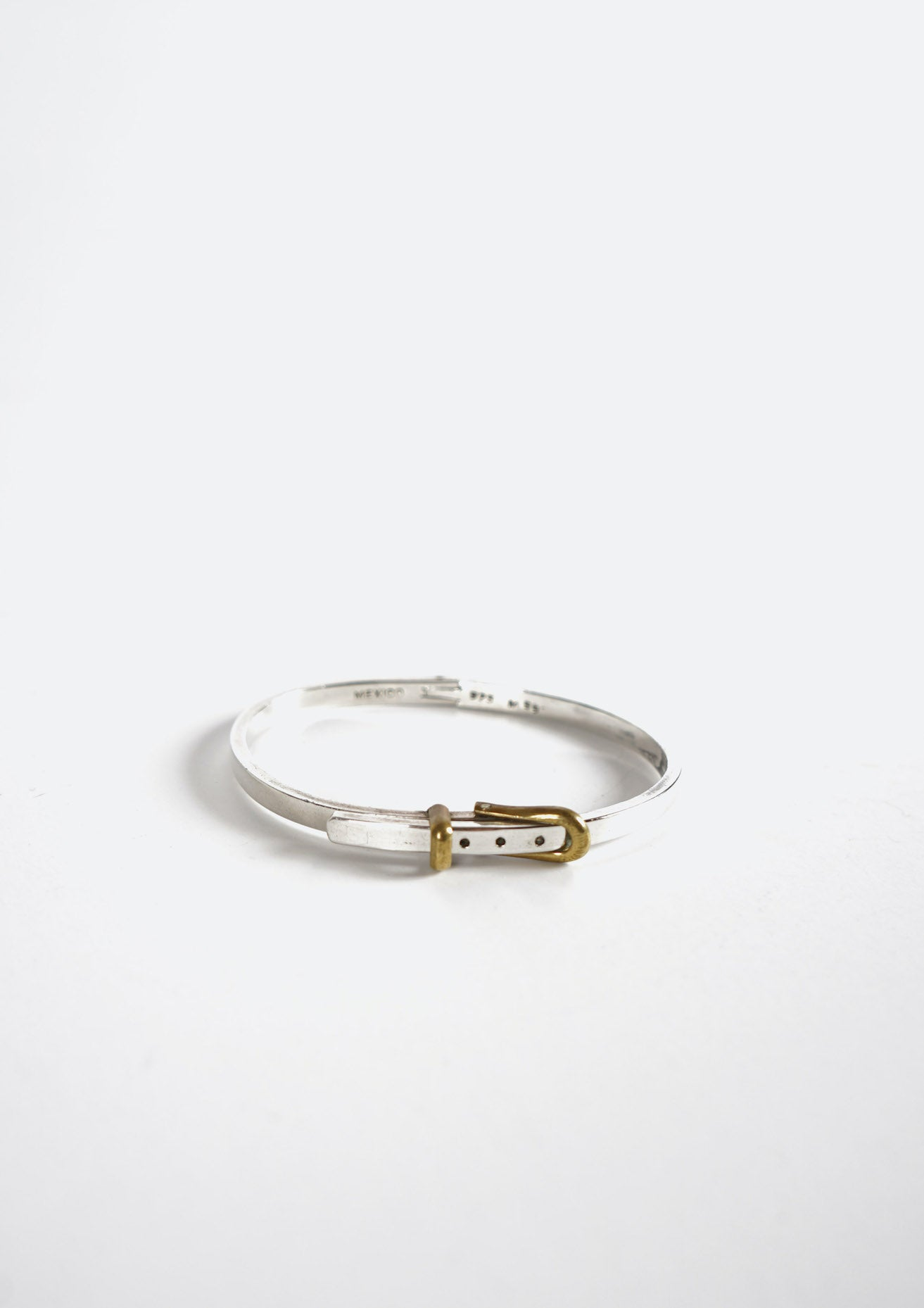 Two Tones Belt Buckle Bracelet