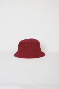 Cotton Bucket Hat / Burgundy