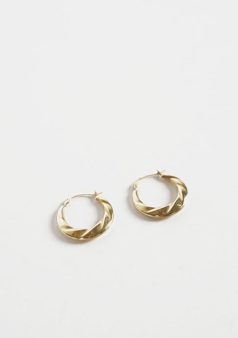 <strong>VINTAGE</strong></br>14k Twisted Hoop Earrings