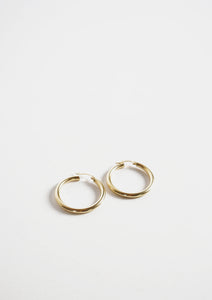 <strong>VINTAGE</strong></br>14k Hoop Earrings
