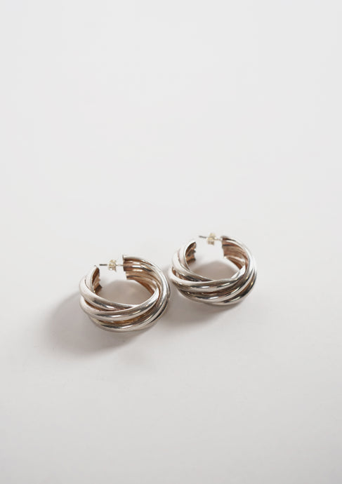 <strong>VINTAGE</strong></br>Twisted Hoop Earrings / 10mm