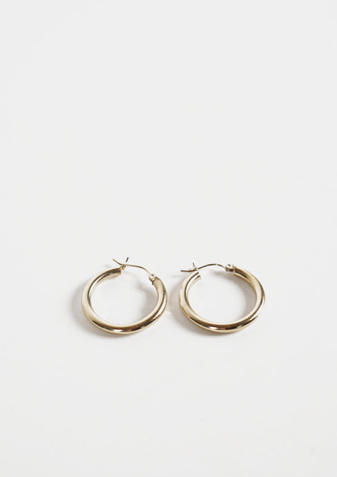 <strong>VINTAGE</strong></br>9K Hoop Earrings