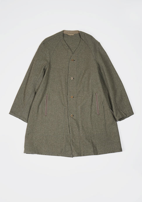 <strong>VINTAGE</strong></br>Wool No Collar Coat
