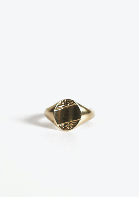 <strong>VINTAGE</strong></br> Gold Signet Ring
