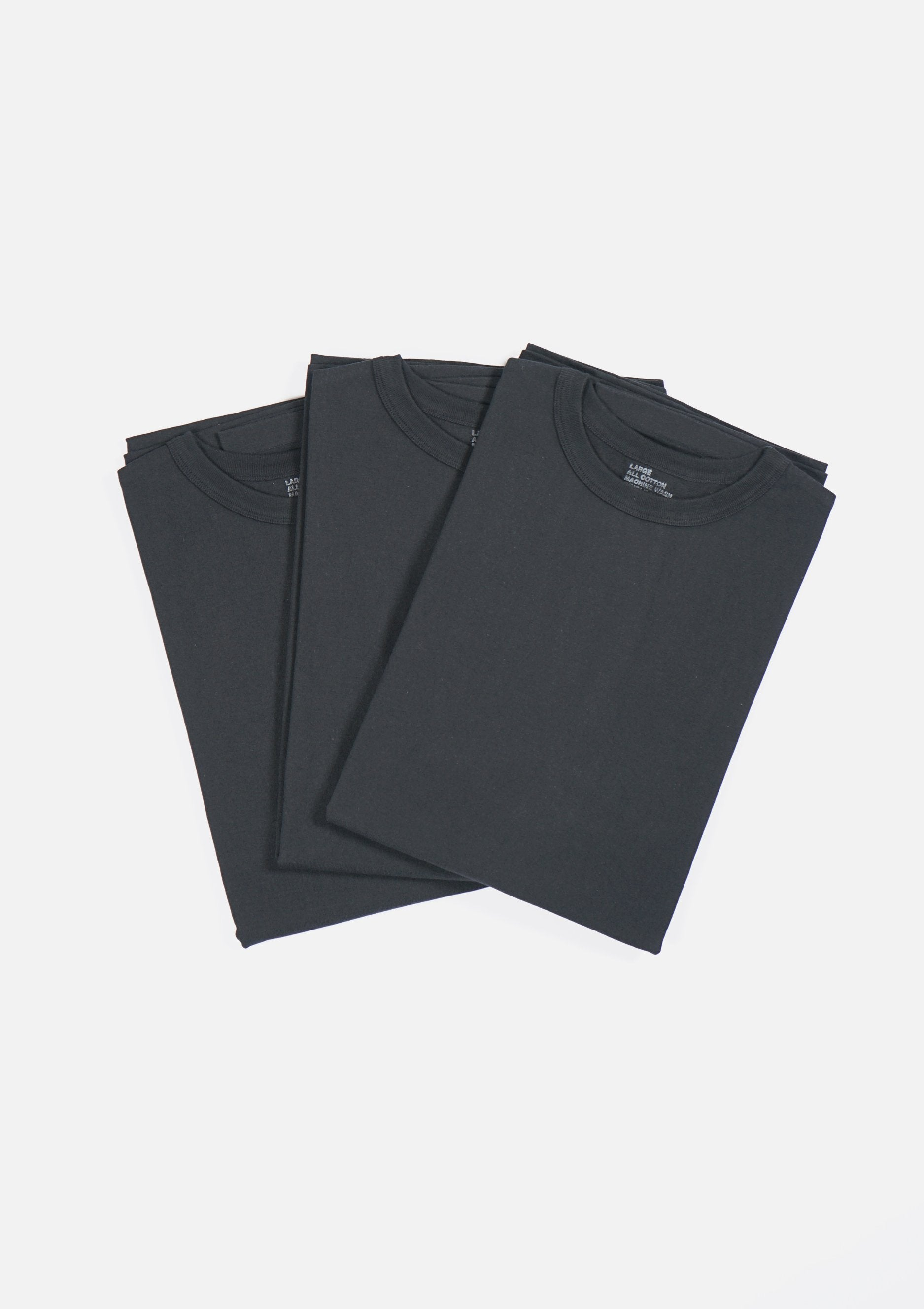 3-Pack Heavyweight T-shirts Black (You Save 10%)