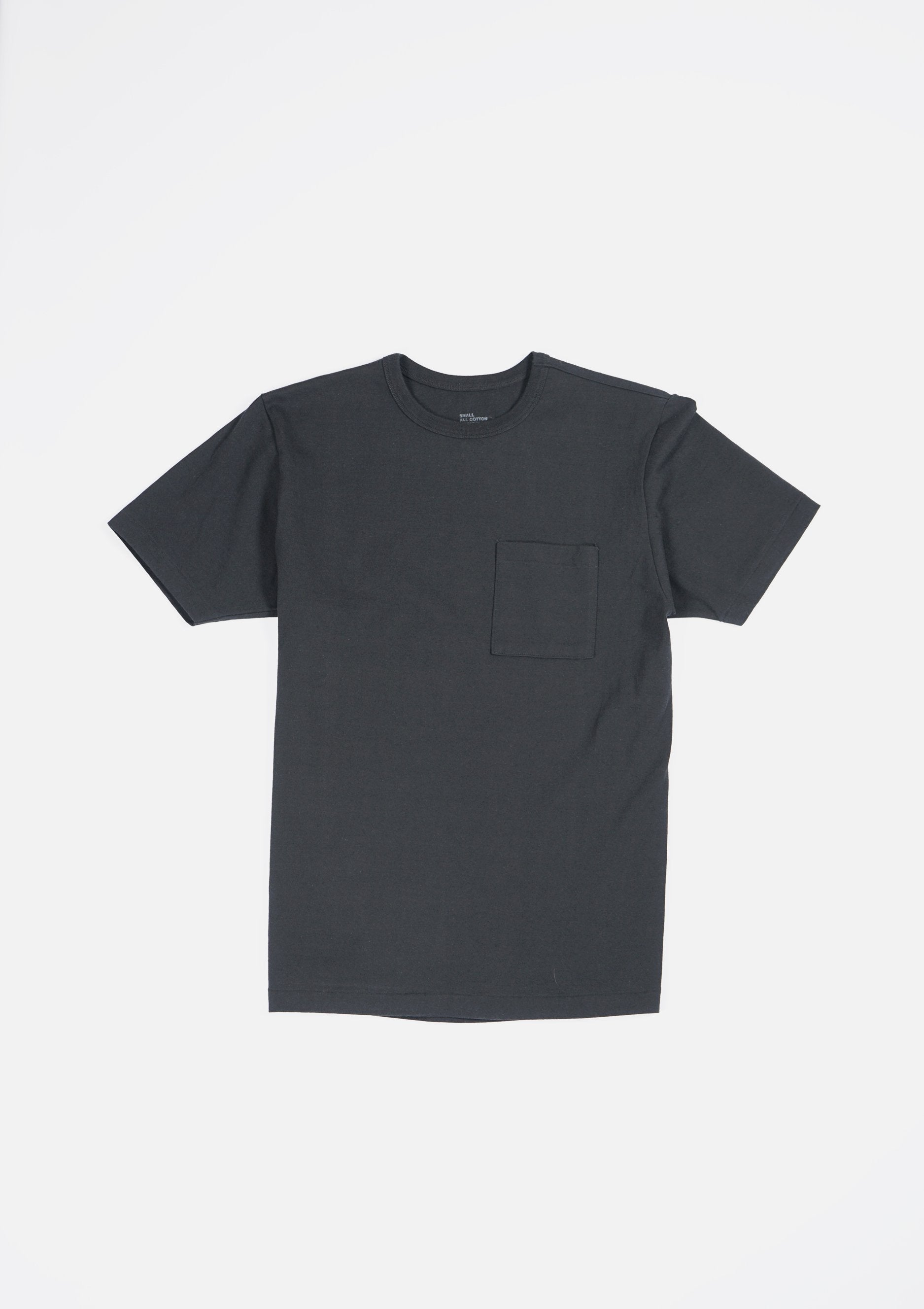Heavy-weight Pocket T-shirts Black