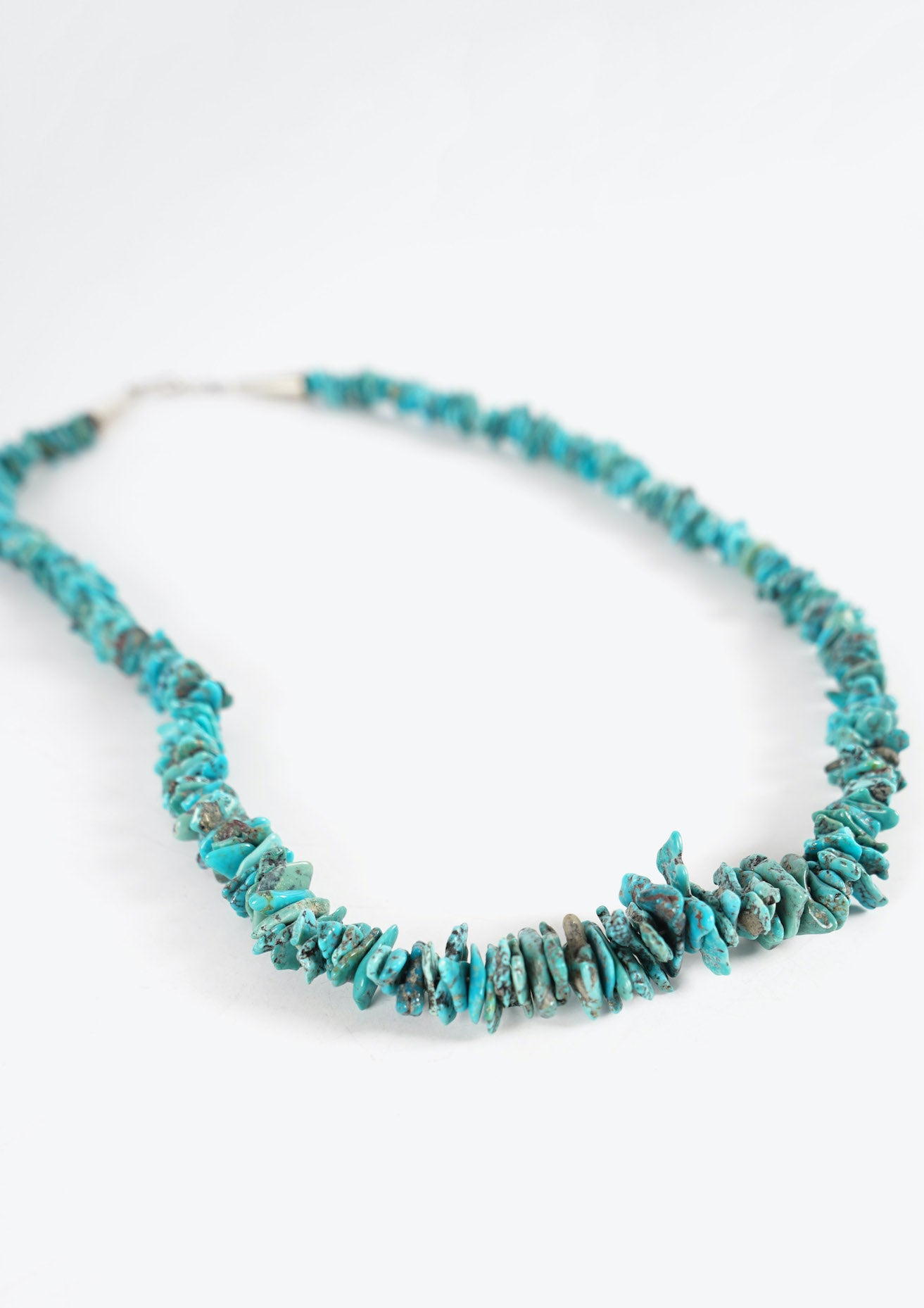 Native Indian Turquoise Disk Necklace