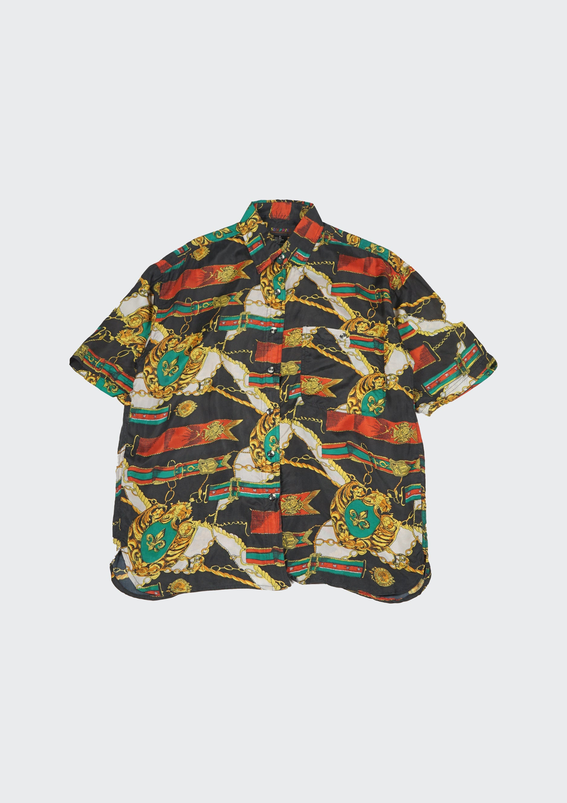 Silk Shirts Short Sleeve Patterned