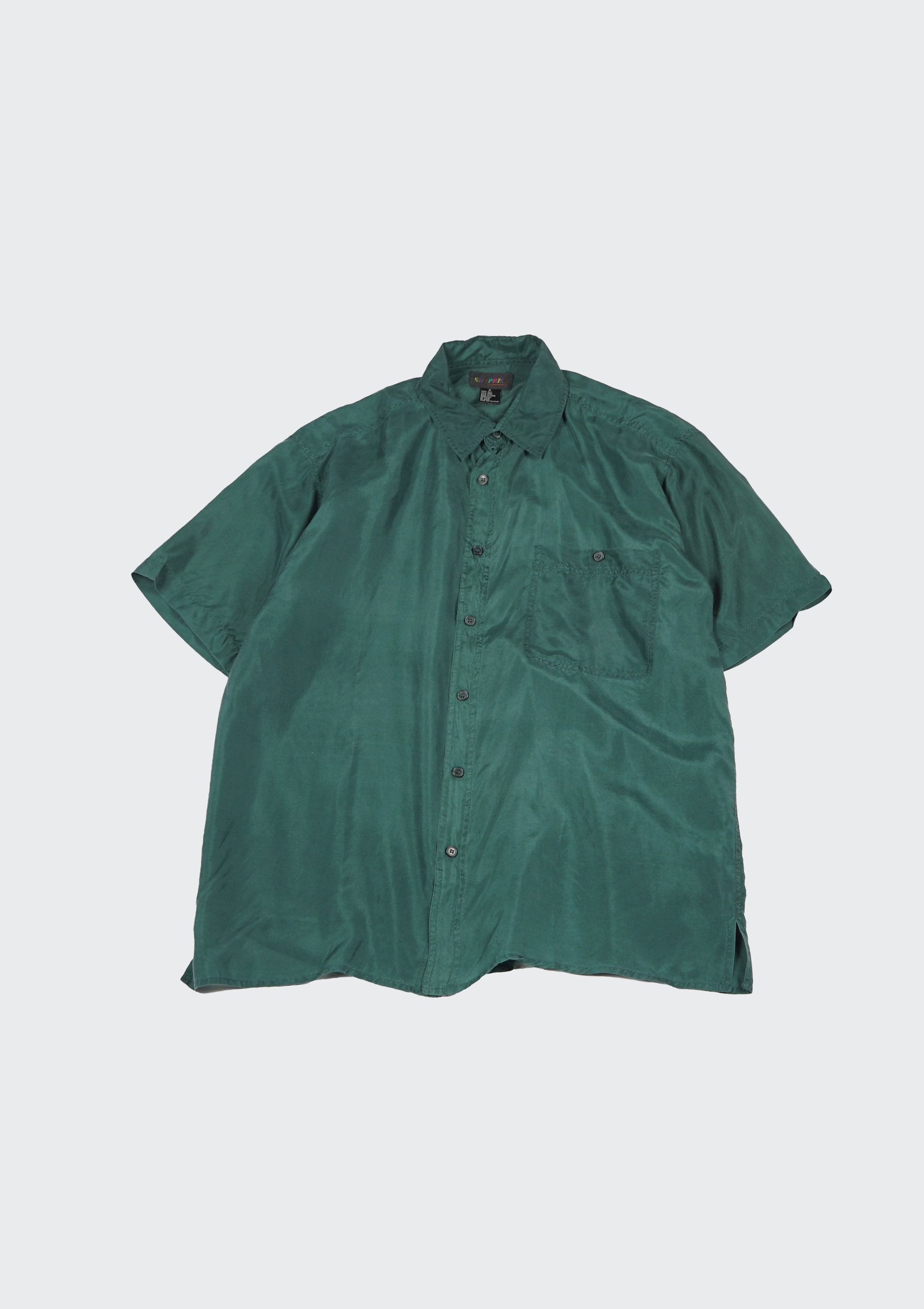 Silk Shirts Short Sleeve Vivid
