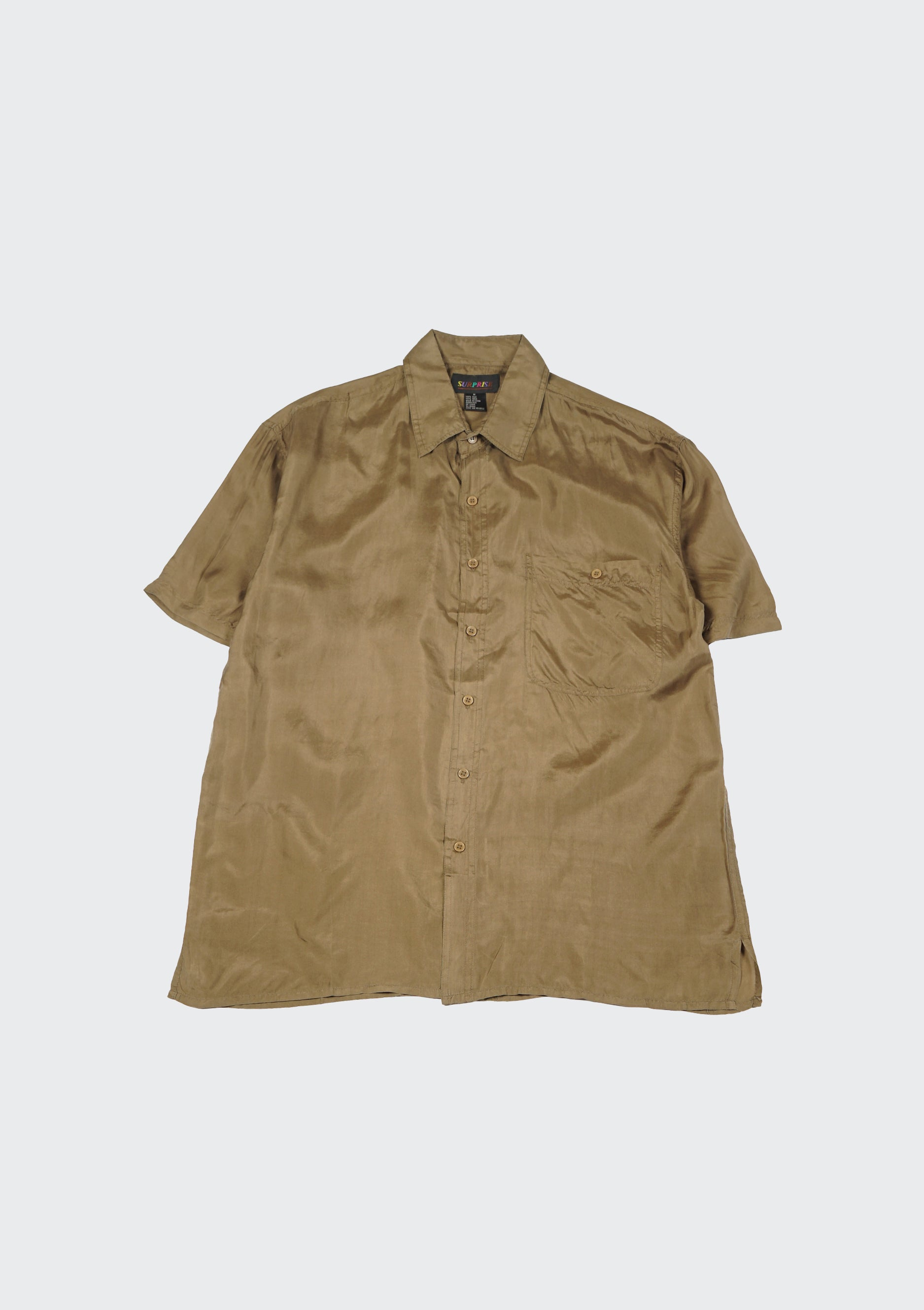 Silk Shirts Short Sleeve Basic
