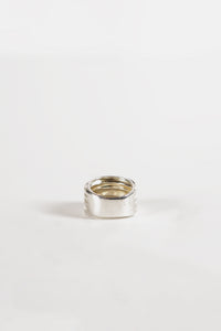 <strong>VINTAGE</strong></br>4 Bands Silver Wide Ring