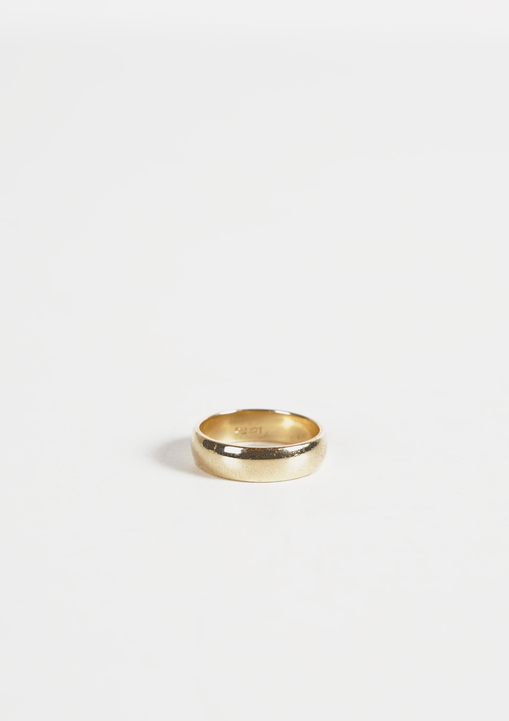 14k Gold Round Band Ring / 5mm