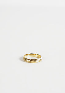 <strong>VINTAGE</strong></br>18k Gold Twisted Ring / 4mm
