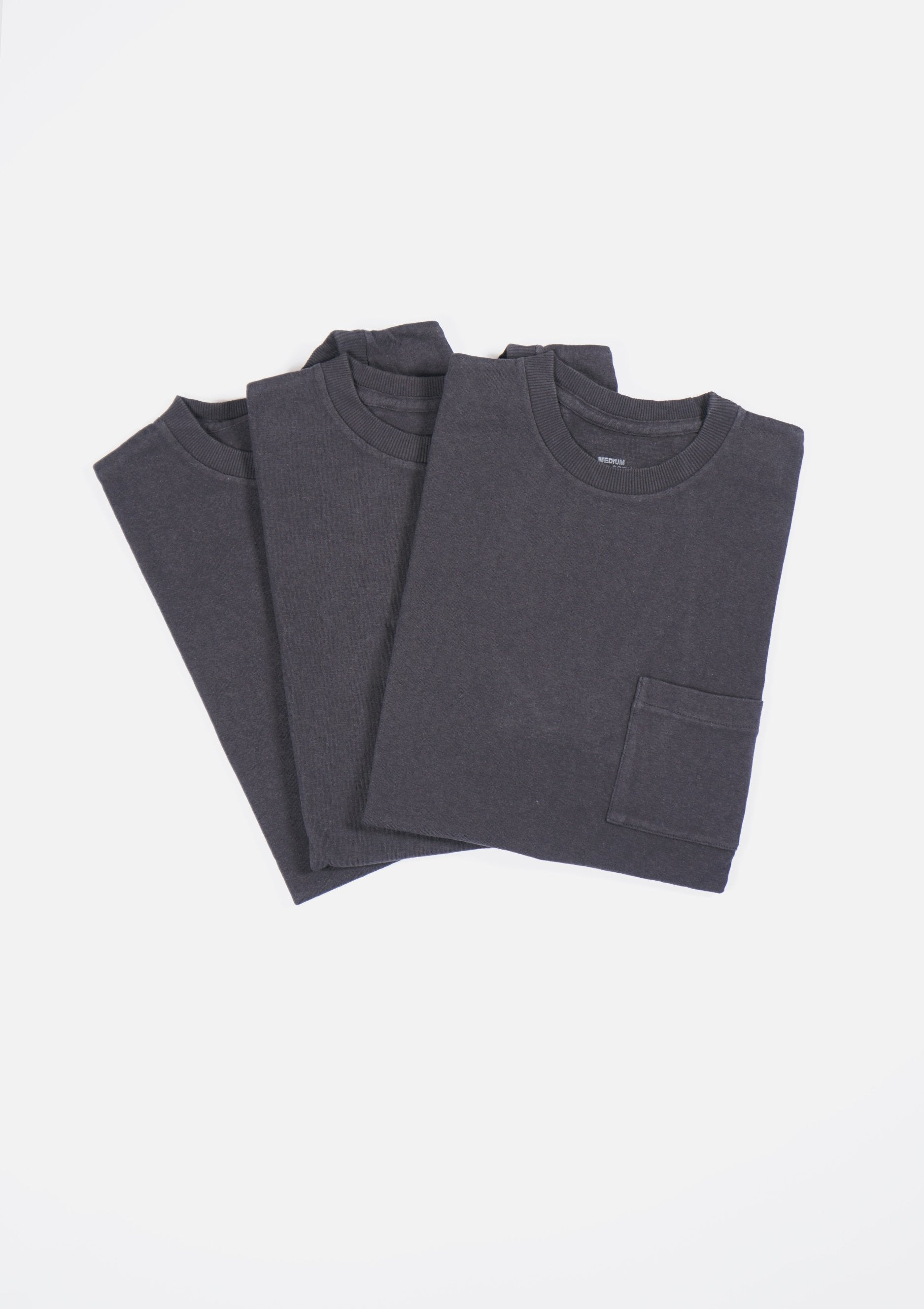3-Pack Original Classic Pocket T-shirts Black
