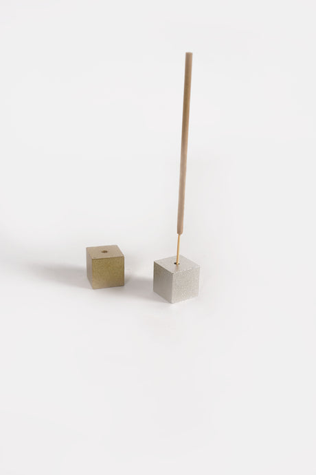 Brass Cube Incense Stick Holder
