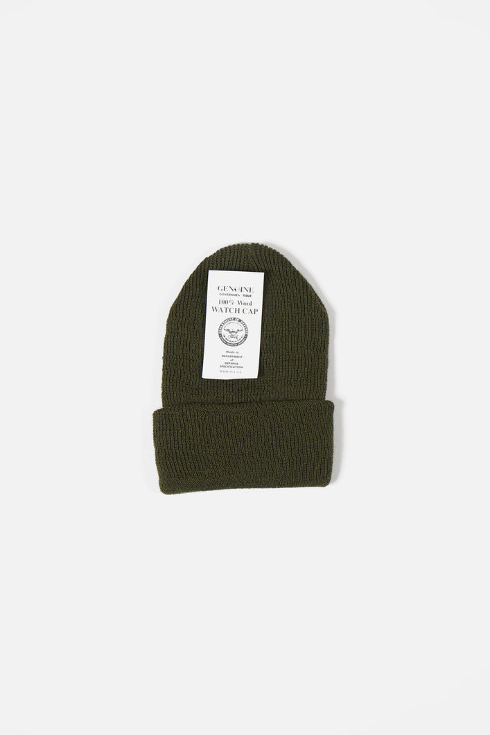 Wool Watch Cap Olive Drab