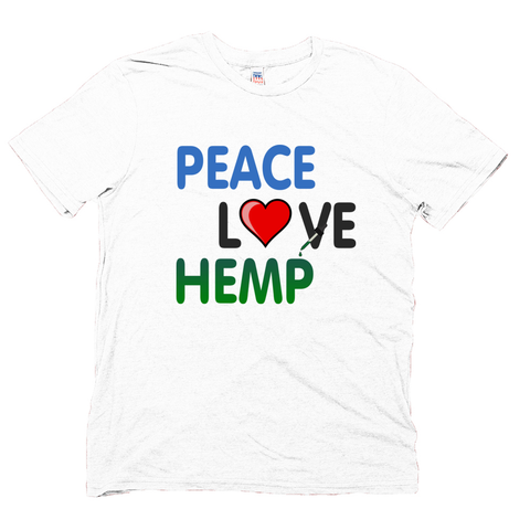 Image of Unisex Hemp Peace Love Hemp