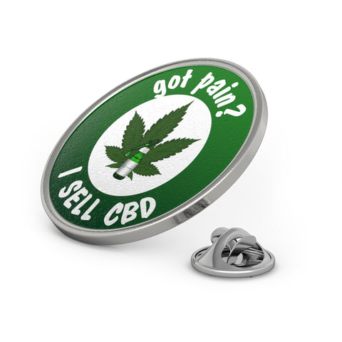 Green Metal Pin