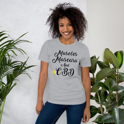 Image of Muscles Mascara and CBD Unisex T-Shirt