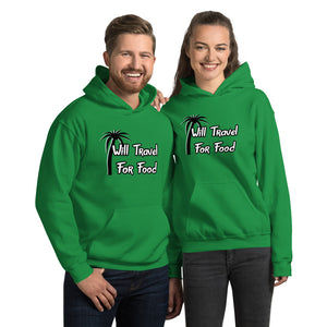 Will Travel For Food Hooded Sweatshirt