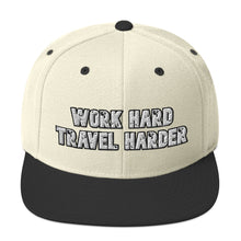 Load image into Gallery viewer, Work Hard Travel Harder Snapback