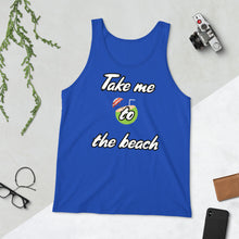 Load image into Gallery viewer, Take me to the beach Premium Unisex Tank Top