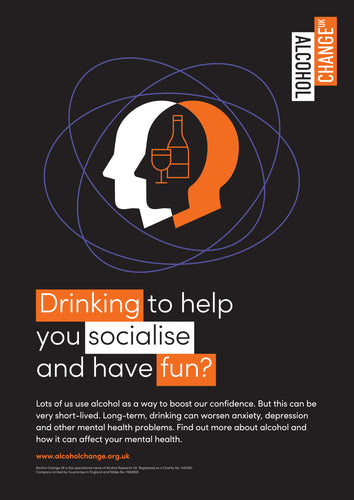 Alcohol and mental health poster set (pack of 10)