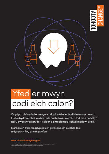 Alcohol and mental health poster in Welsh (pack of 10)
