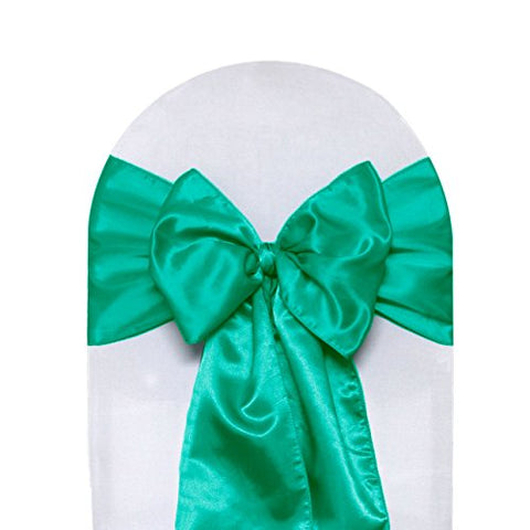 Satin Chair Sashes Teal
