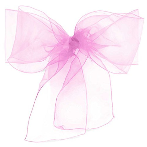 Lann'S Linens - 100 Organza Chair Cover Bow Sashes - For Wedding Or Party Use - Lavender
