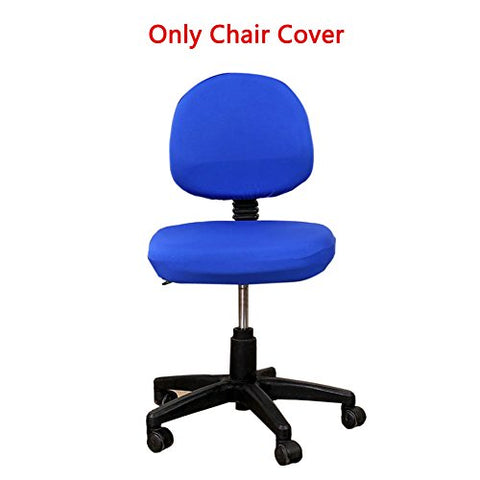 Loghot Comfortable Soft Chair Covers Split Computer Office Desk Slipcovers Stretch Rotating Polyester Spandex Chair Pads Covers (Royal Blue)