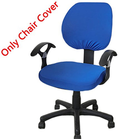 Loghot Pure Color Stretch Fabrics Chair Covers Computer Office Universal Stretch Rotating Chair Cover (Royal Blue)