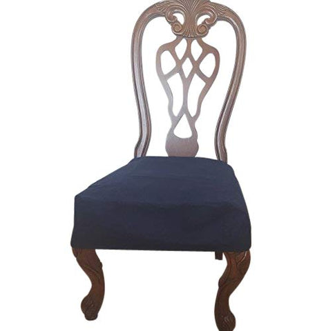 Octorose Classic Micro Suede Set Of Two Chair Covers Chair Seat Covers,Chair Protector (Navy)