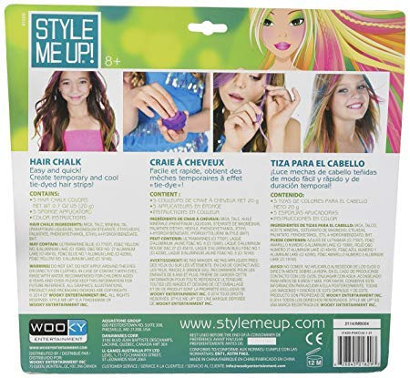 Style Me Up - Temporary Hair Dye For Girls - Washable Hair Color Pods -  Kids Hair Chalk - Smu-1629