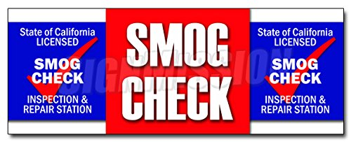 36 Smog Check Decal Sticker Auto Automotive Pollution Car Inspection