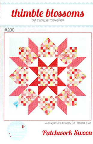 Patchwork Swoon Quilt Pattern, Jelly Roll 2.5  Strip Friendly, 72 Inch Square Finished Size