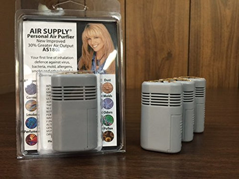 New Improved 2017 Air Supply Mini-Mate Personal Wearable Air Purifier (As180I) 30% More Air Output