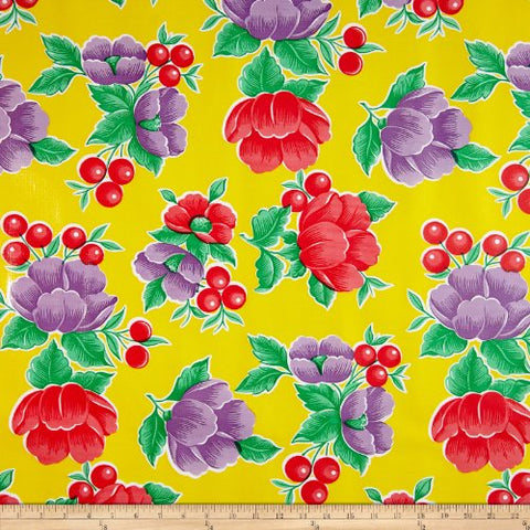 Oilcloth Poppy Yellow Fabric By The Yard