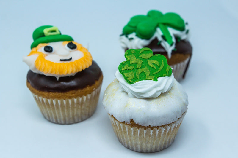 St. Patrick's Day Decorated Cupcakes