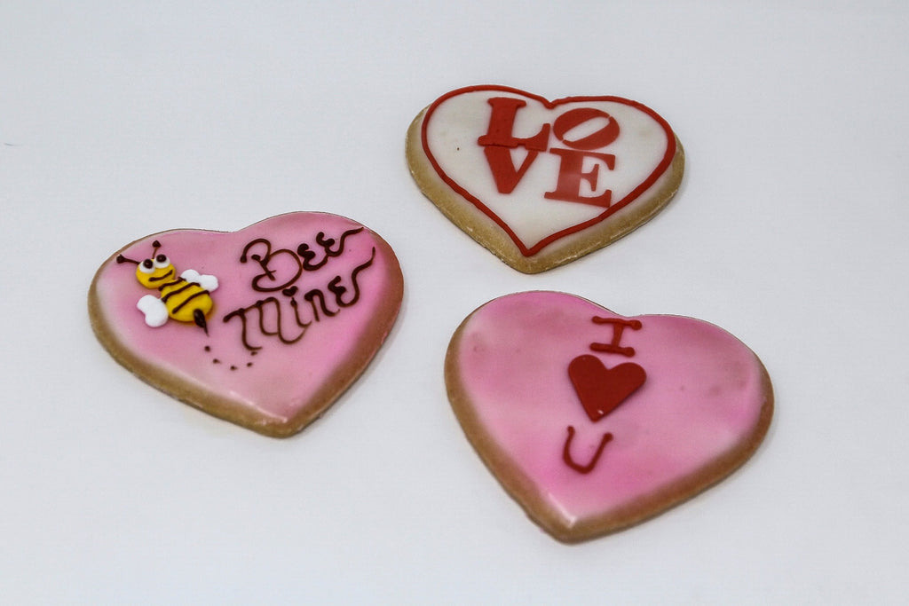 Valentine's Day Fondant Dipped Sugar Cookies