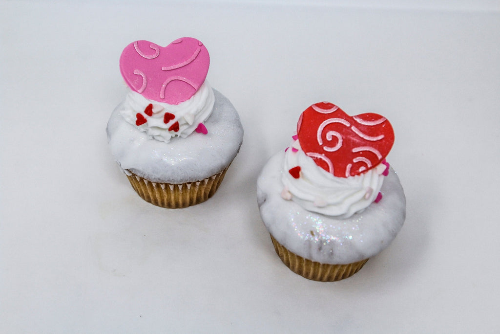 White Dipped Valentine's Day Cupcakes