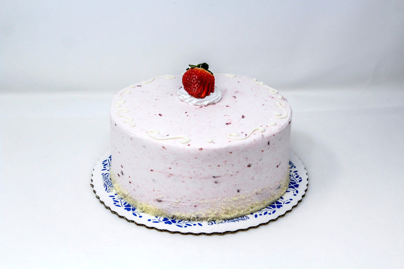 Strawberry Buttercream Swirl Cake