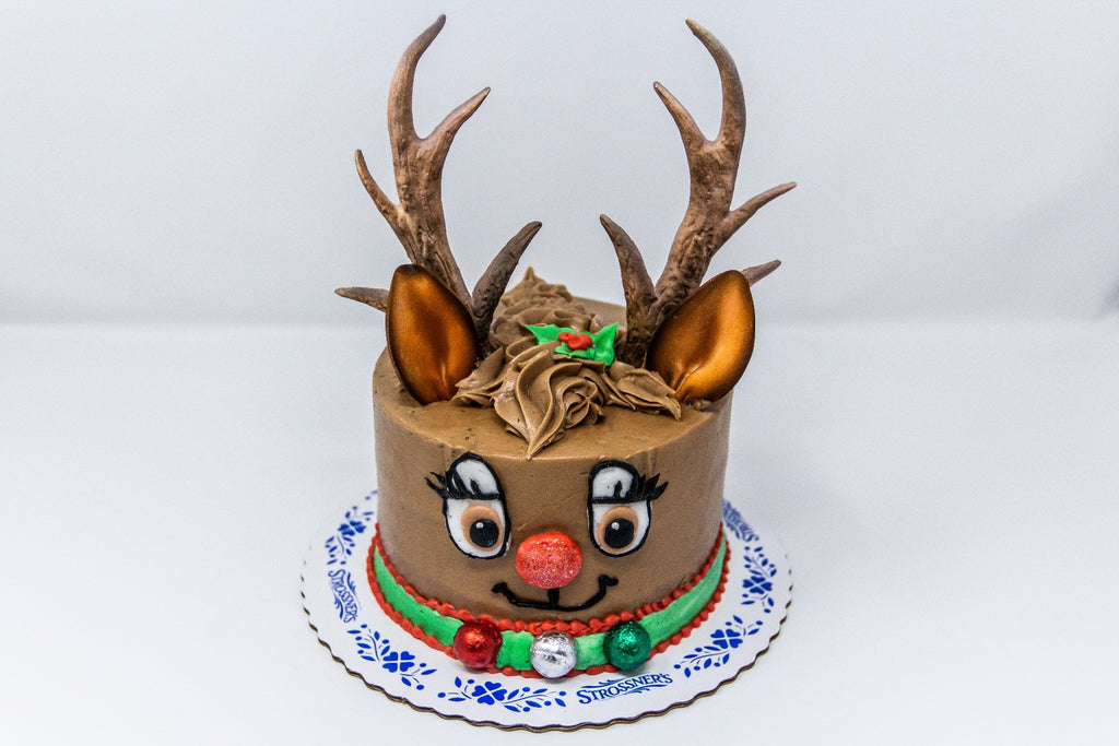 Reindeer Decorated Cake