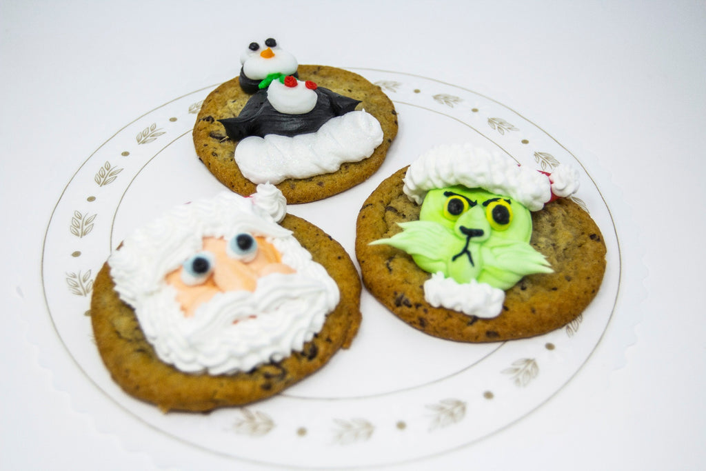 Christmas Decorated Chocolate Chip Cookies