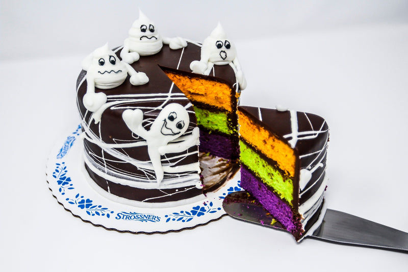 Halloween Black Web Cake