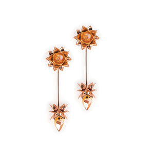 Lotus pond : transformable earrings