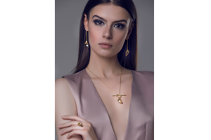 Huma - Regal gold falcon necklace